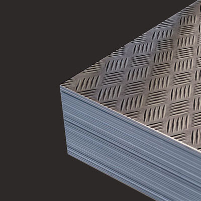 Lamiera Alluminio Mandorlata